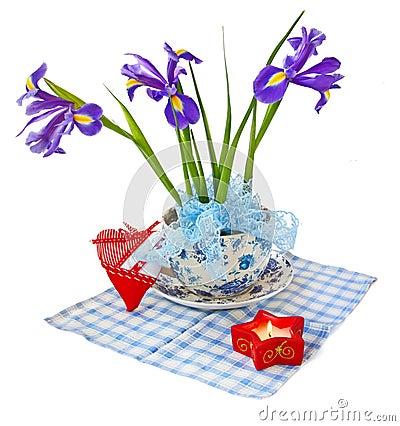 Taffies (irises) and heart