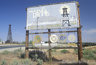 Taft welcomes you! sign Editorial Stock Photo