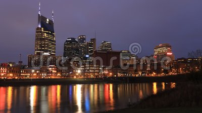 Tag für Nacht: Timelapse von Nashville, Tennessee, Vereinigte Staaten 4K stock footage
