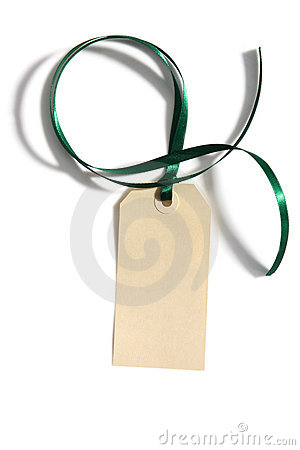 Tag with Ribbon