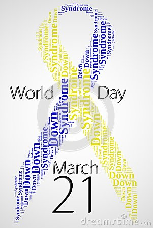 Tag or word cloud World Down Syndrome Day related