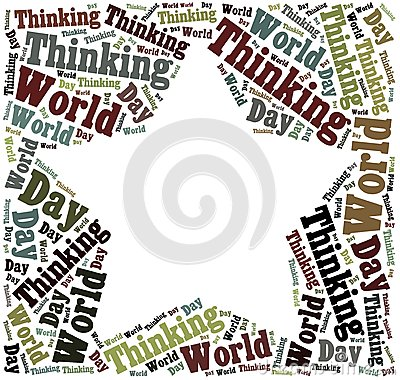 Tag or word cloud World Thinking Day related