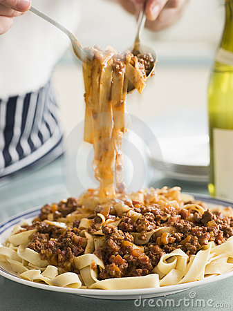 Tagaliatelle with Ragu Sauce