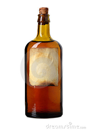 Free Tagged Bottle With Transparent Liquid Stock Images - 9360834