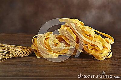 Tagliatelle italian pasta