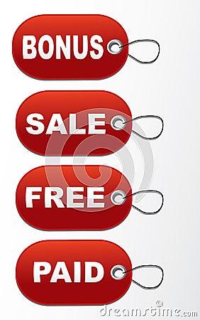 Tags - Bonus, sale,free,paid