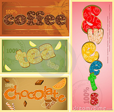 Tags - coffee, tea, chocolate