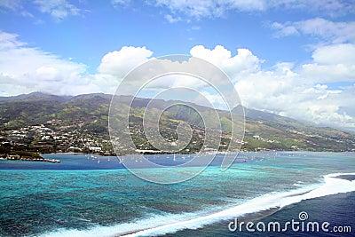 Tahiti lagoon and reef
