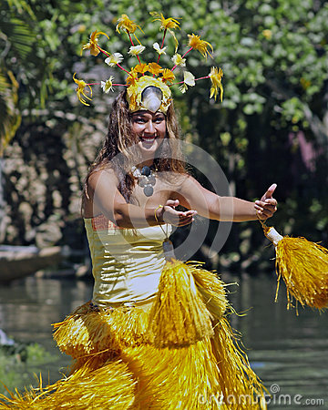 Tahitian Dancer Editorial Photography