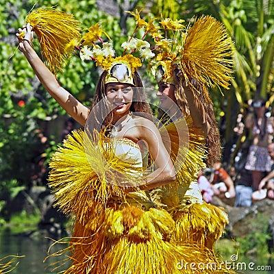 Tahitian Dancers Editorial Stock Photo