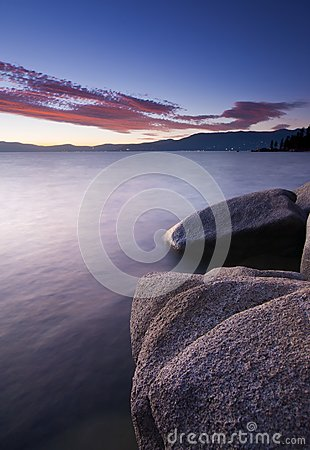 Tahoe Sunset Rocks