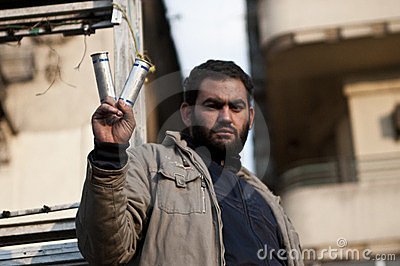 Tahrir protester Editorial Stock Photo