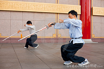 Tai Chi Chuan Crouch Editorial Image