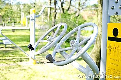 Tai chi wheels outdoor fitness machine