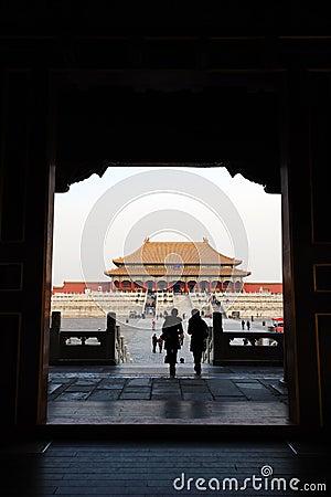 Tai he dian,The Forbidden City (Gu Gong) Editorial Stock Image