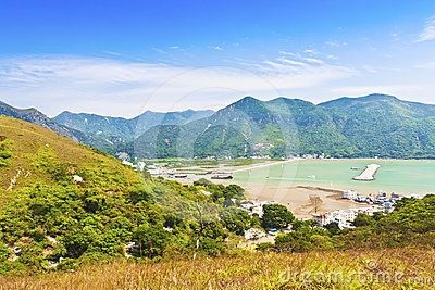 Tai O landscape from mountains in Hong Kong
