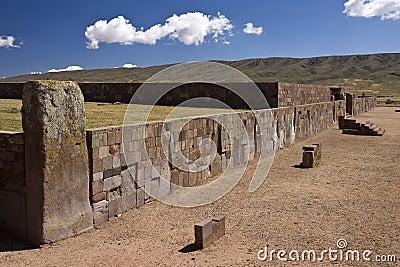 Taihuanaco Pre-Inca site - La Paz - Bolivia