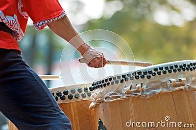 Taiko Drummer Closeup