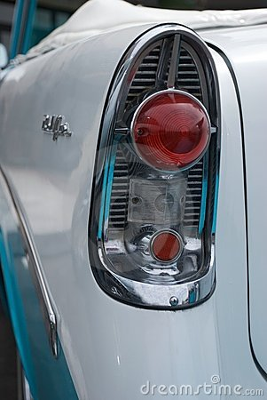 Tail Light of Classic 1956 Convertible