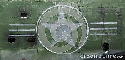 Tail of World War II Airplane