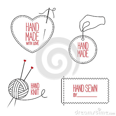 Free Tailor And Handmade Emblems Set Stock Photo - 53134880