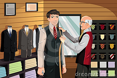 Tailor fitting for suit