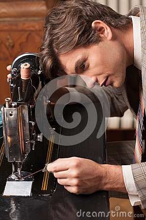 Tailor at work.