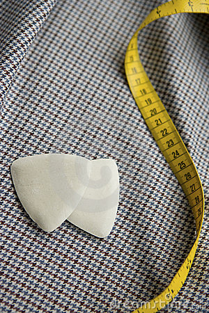 Tailors Chalks And Tape Measure Stock Photo - Image: 16684970