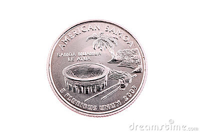 Tails US American Samoa Quarter 2009 coin