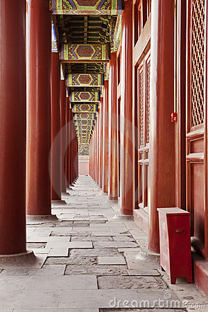 Free Taimiao Ancestral Temple Colonnade Stock Images - 21608574