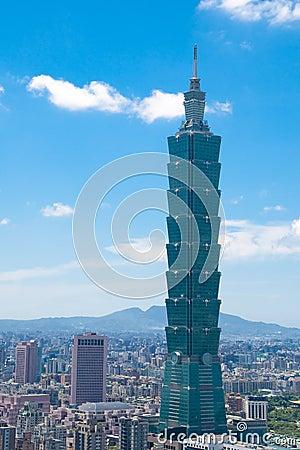 Taipei 101 building Editorial Stock Photo