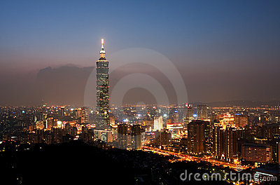 Taipei City Skyline by Night
