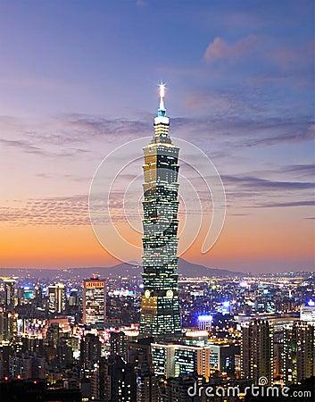 Free Taipei Night Scene Stock Photos - 13589453