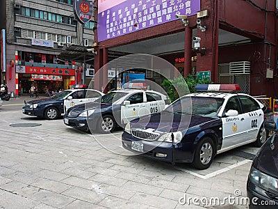 Taipei police car Editorial Photo