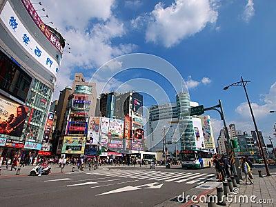 Taipei street view Editorial Stock Photo