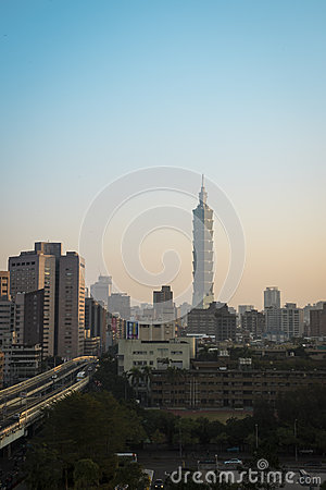 Taipei 101 at sunrise