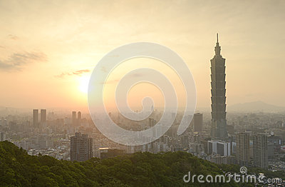 Taipei sunset time