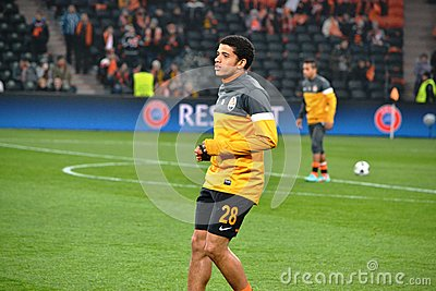 Taison before the match of the Champions League Editorial Image