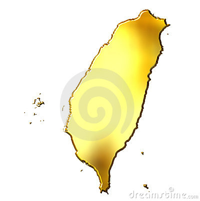 Taiwan 3d Golden Map