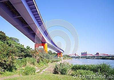 Taiwan bridge and river