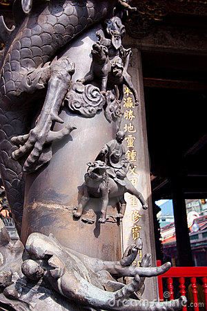 Taiwan Buddhist temple detail
