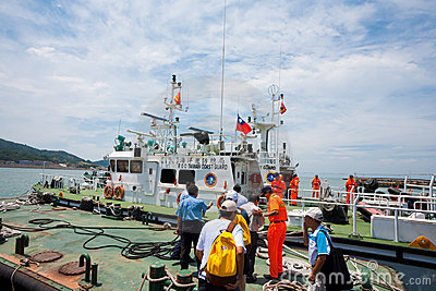 Taiwan Coast Guard Cutter Editorial Photo