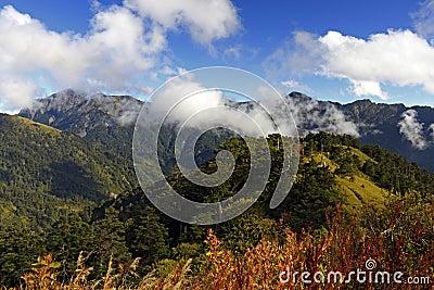 Taiwan Famous Landscape Hehuan Mountain