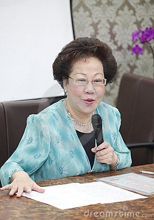 Taiwan former vice president, Annette Lu Editorial Photo