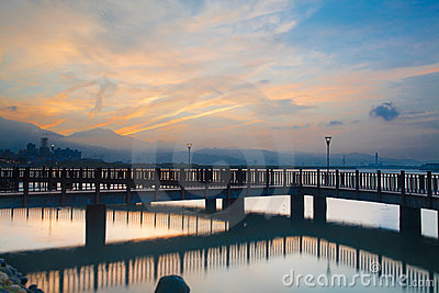 Taiwan, the new Taipei, Tamsui Sunset