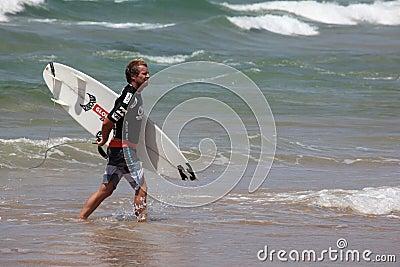 Taj Burrows - Australian Open Manly Australia Editorial Photo