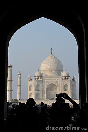 Taj Mahal in Agra, India - November 2011 Editorial Image