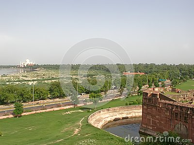 Taj Mahal and the area around it