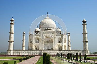 Taj Mahal Blue Sky, Travel to Agra, India