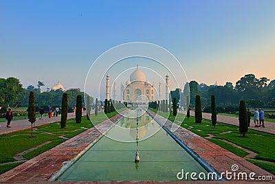 Taj Mahal at dawn, India Editorial Image